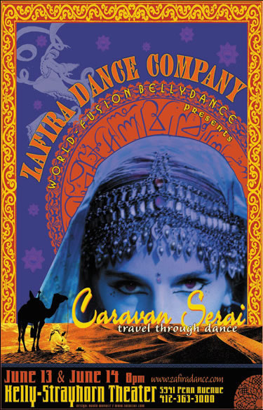Caravanserai Poster 2003: Graphics by Dave Wallace