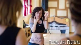Teaching at Tribal Art Festival, Barcelona